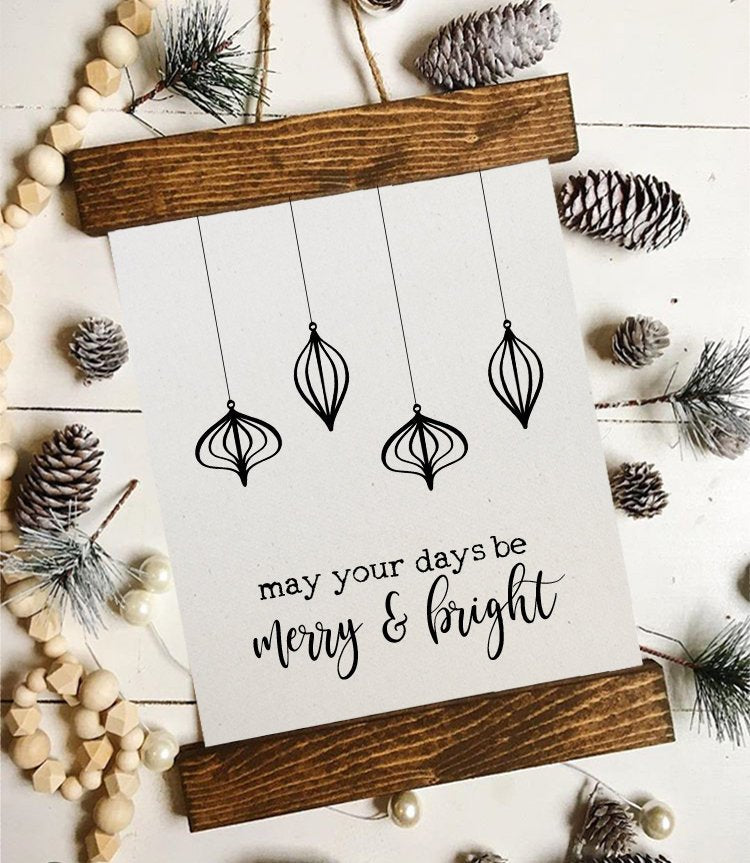Christmas art/may your days be merry and bright/christmas decor/christmas wall art/wall art/farmhouse art