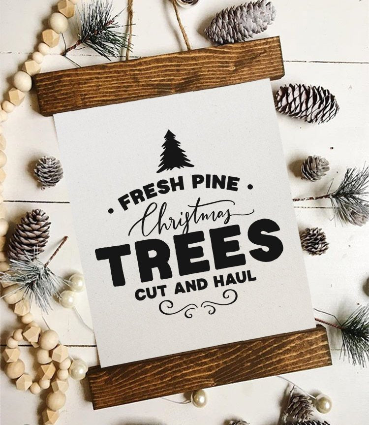 Christmas art/fresh cut trees/farmhouse christmas/christmas decor/christmas wall art/wall art/farmhouse art