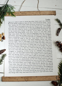 Christmas art/luke 2/christmas story/christmas wall art/wall art/farmhouse art/