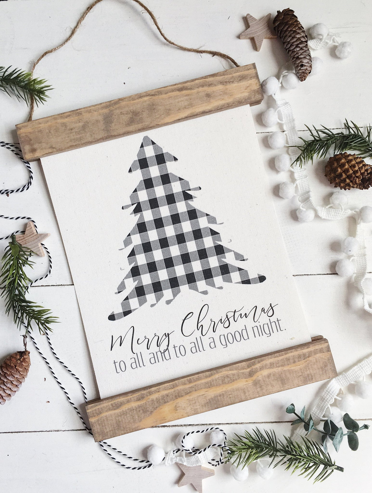 Christmas art/buffalo check/christmas tree/merry christmas/christmas decor/christmas wall art/wall art/farmhouse art