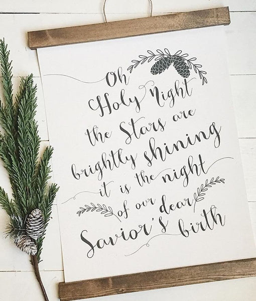 o holy night/christmas decor/christmas wall art/wall art/farmhouse art
