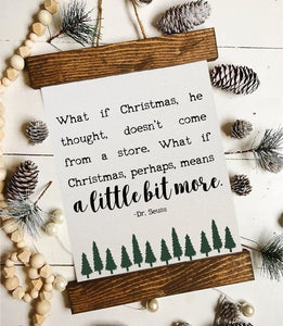 Christmas art/what if Christmas doesn't come from a store/christmas decor/christmas wall art/wall art/farmhouse art