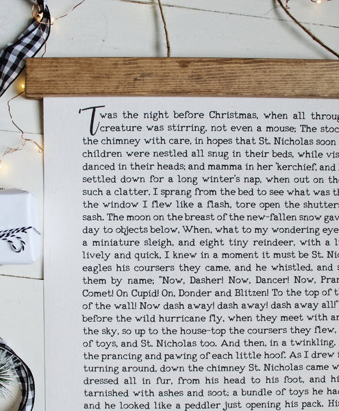 Christmas art/twas the night before christmas/a visit from st. nicholas/christmas wall art/wall art/farmhouse art/