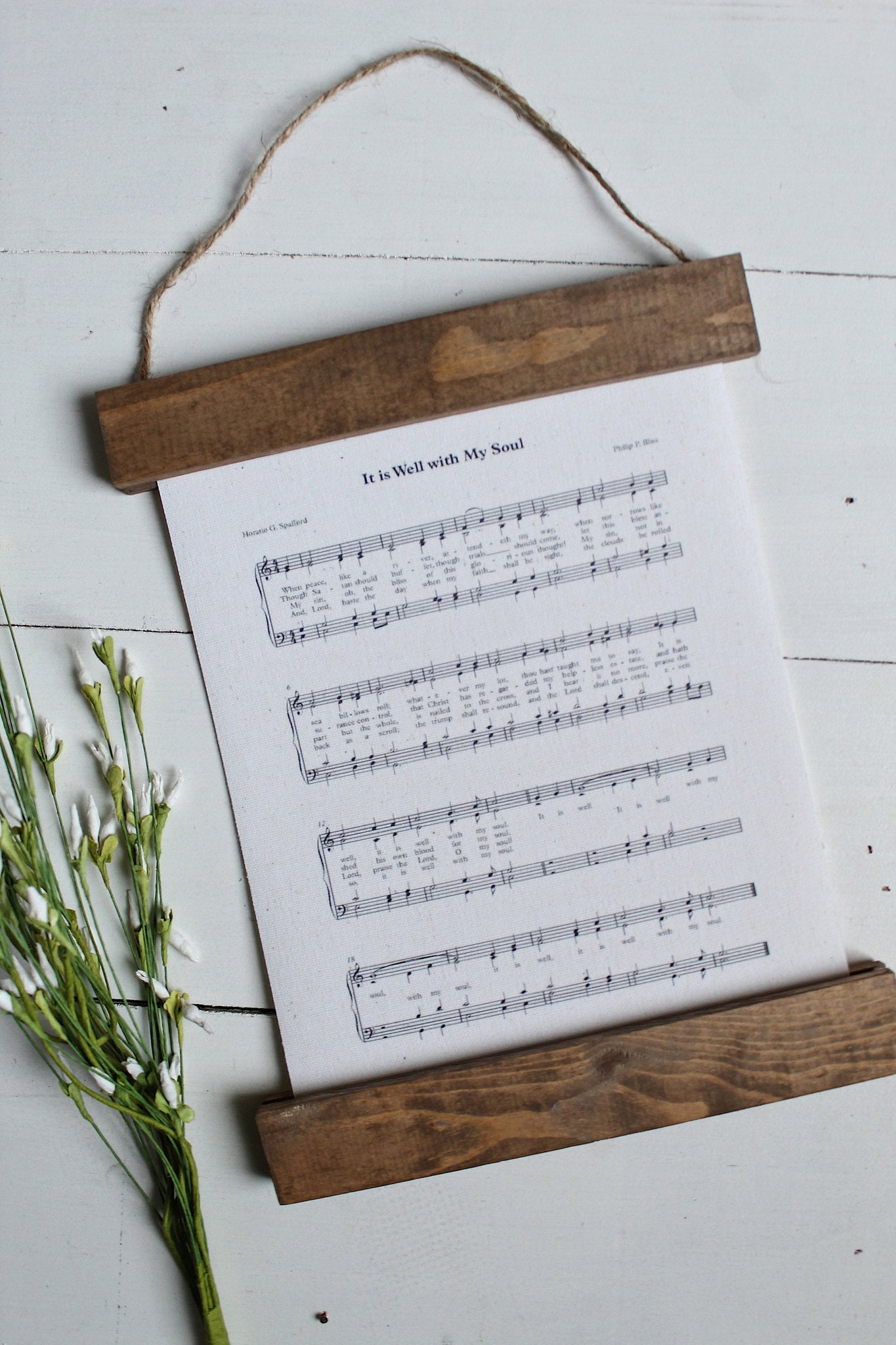 It is well with my soul sheet music/wall art/music notes/christian art/canvas print/framed art/picture frame/home decor/wall art