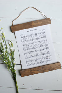 Blessed Assurance sheet music/wall art/music notes/christian art/canvas print/framed art/picture frame/home decor/wall art
