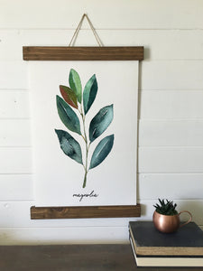 Eucalyptus art print/Olive/or Magnolia watercolor print/botanical wall art/canvas art print/wall art/home decor