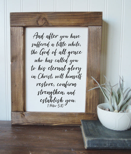 1 Peter 5:10/restore, confirm, strengthen, and establish you/canvas art print/wall art/canvas print/wall decor