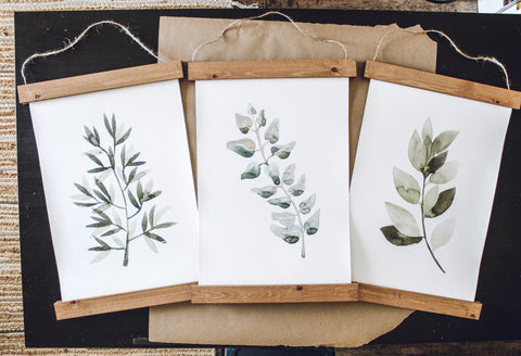 Wild herbs prints/herbs print set/botanical wall art/canvas art print/wall art/home decor