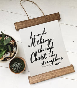 I can do all things through Christ who strengthens me/Phillipians 4:13/canvas art print/wall art/canvas print/wall decor
