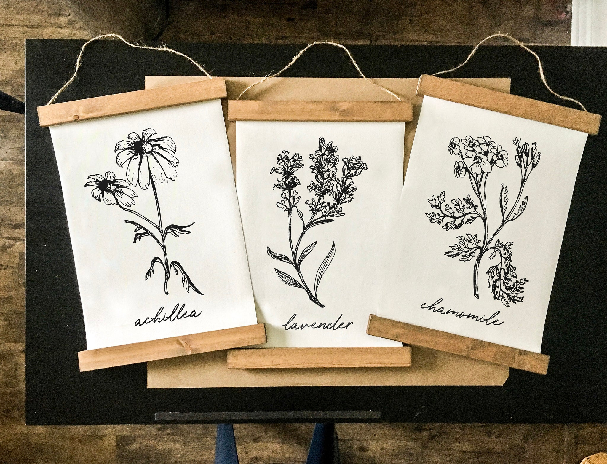 Botanical prints/herbs print/black and white print set/botanical wall art/canvas art print/wall art/home decor