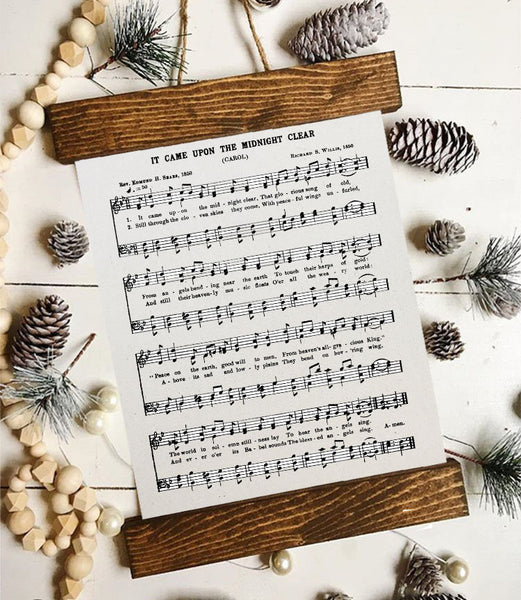 Christmas art/O Holy Night/silent night/joy to the world/sheet music/christmas decor/christmas wall art/wall art/vintage art/farmhouse art