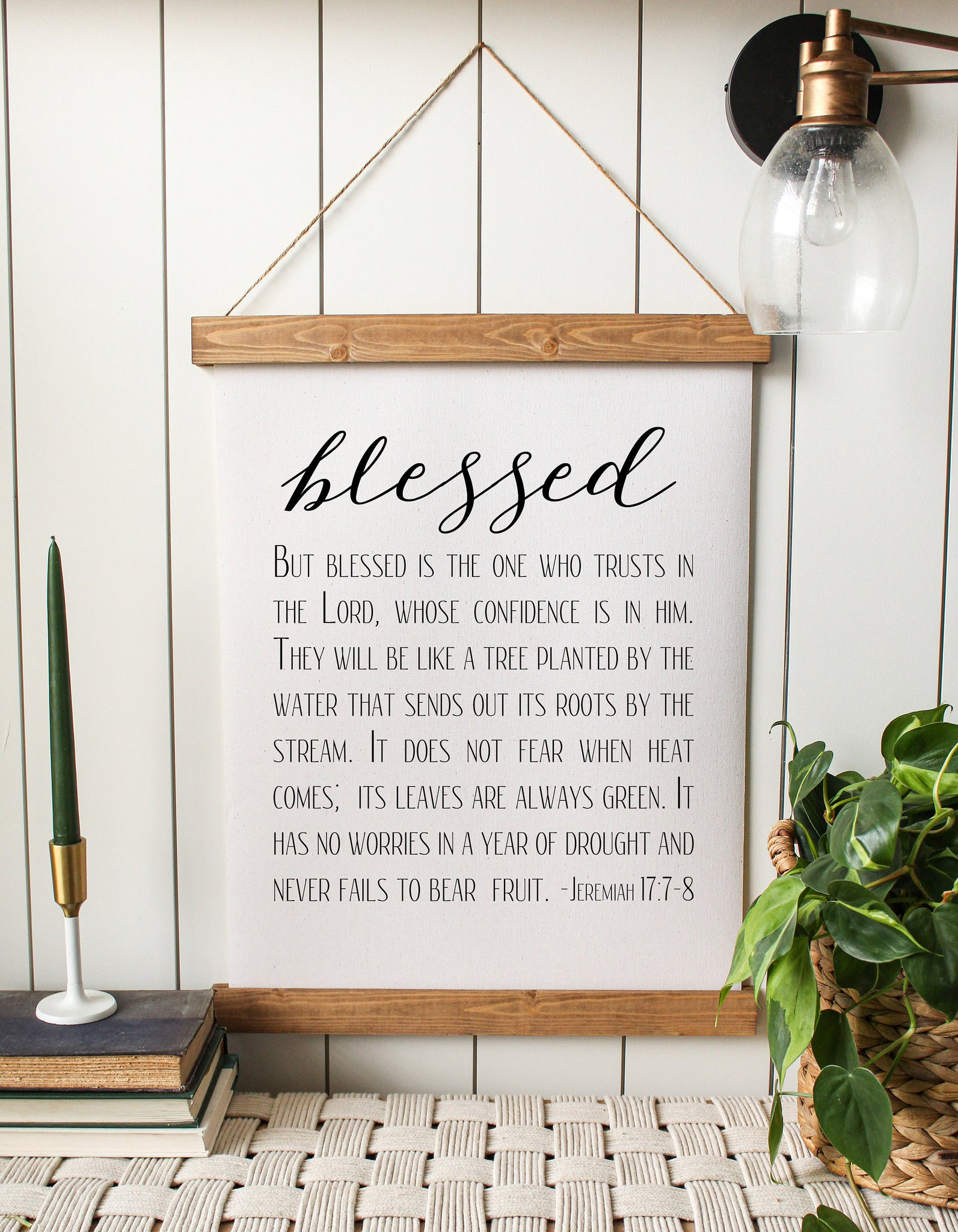 blessed/jeremiah 17:7-8/bible verse/home decor/canvas wall art