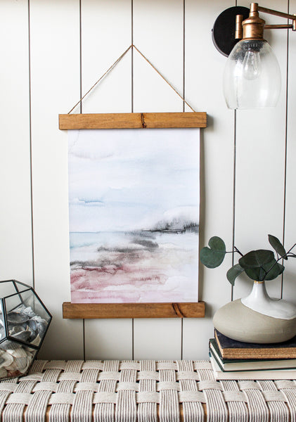 Watercolor art/canvas print/seascape/wall art/home decor/canvas art