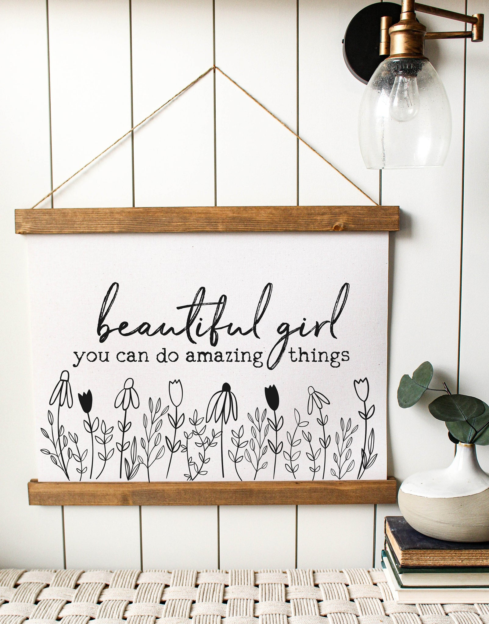 beautiful girl you can do amazing things/canvas art print/wall decor/home decor