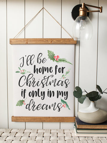 Christmas art/i'll be home for christmas/christmas decor/christmas wall art/wall art/farmhouse art