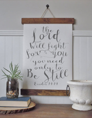 Canvas wall art/the lord will fight for you/canvas art print/wall decor/exodus 14:14