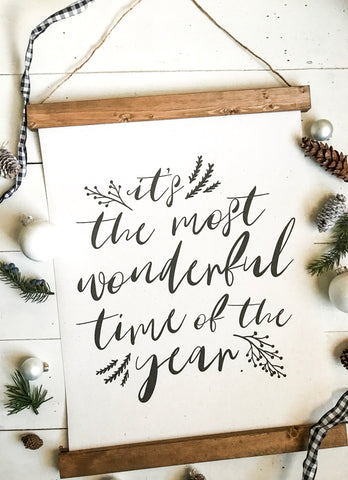 Christmas art/It's the most wonderful time/christmas decor/christmas wall art/wall art