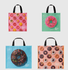 Simon Strong x The Market Bag Co. - Combo Shopper Set of 4 bags 2 big 2 small