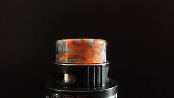 510 Orange/Gun Metal grey Drip Tip