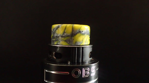 510 Yellow/Gun Metal grey Drip Tip