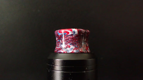 810 Red/White/Blue swirl Recurve Driptip