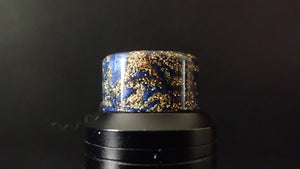 810 Blue/Gold Holo Glitter Driptip