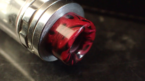 810 (O'Ring)  Red/Black Driptip