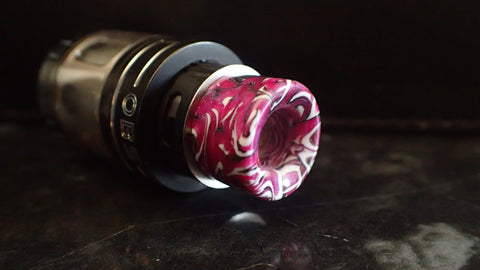 510 Pink/White/Black Drip Tip