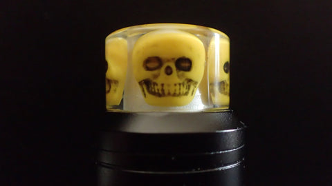 810 Yellow Skull Driptip