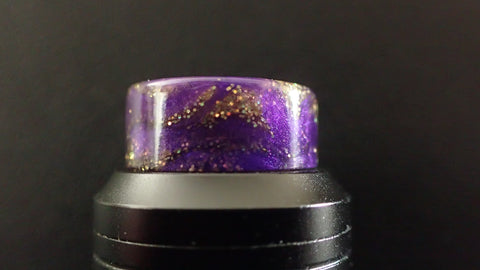 810 Purple/Gold Glitter Driptip