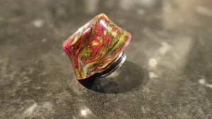 "12.5mm Curved Driptip ""Pink Lava"""