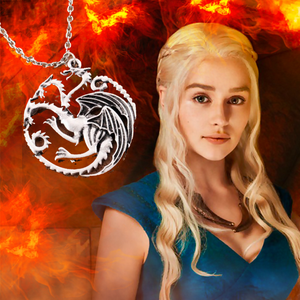 Colar com pingente Daenerys Targaryen Fogo e Sangue - Game Of Thrones