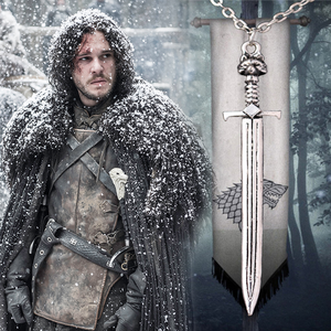 Colar Espada do Jon Snow - Game Of Thrones