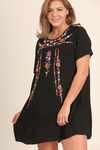 Vintage Love Collection - Eternal Love Embroidered Tunic Dress - Black