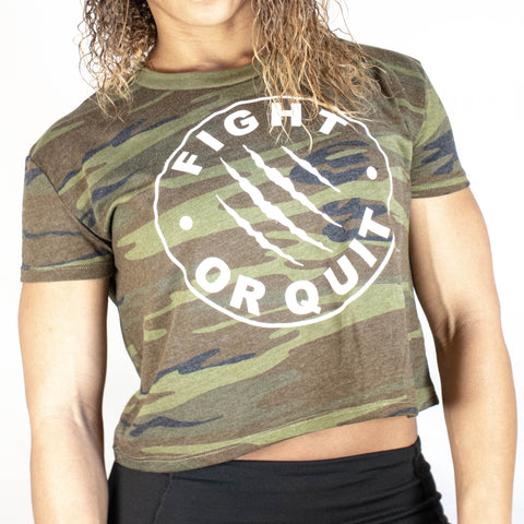 FQ Camo Cropped Tee