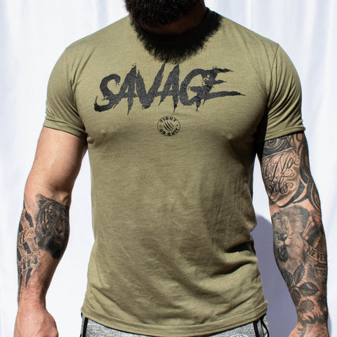 Men's Savage Tee (Military Green)