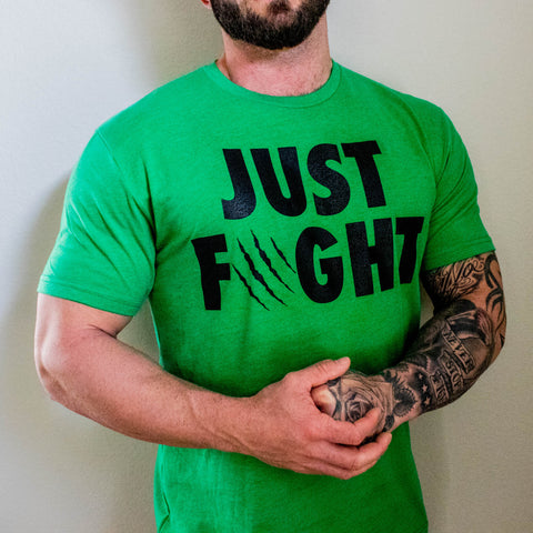Men's Just Fight Tee Black & Green