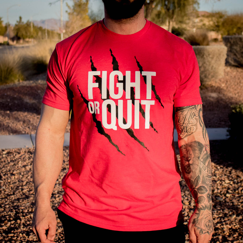 Men's Fight or Quit Logo Tee Red