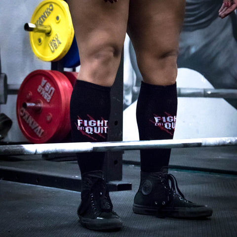 FOQ Logo Deadlift Socks