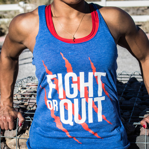 Women's Red White & Blue FOQ Logo Tank