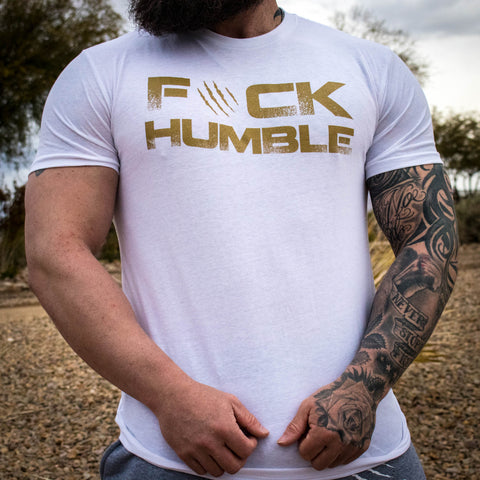 Men's F#CK HUMBLE 2.0 Tee (WHITE)