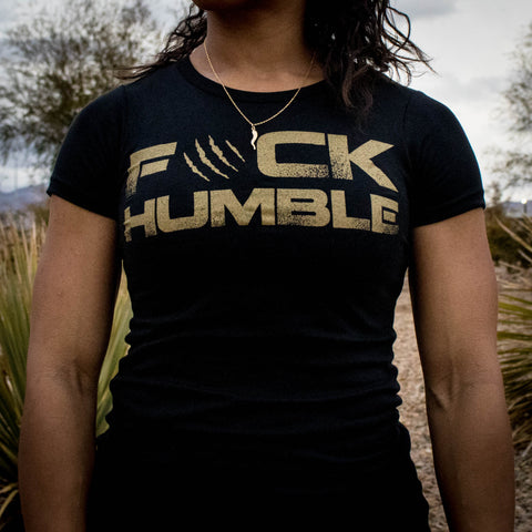 Women's F#CK HUMBLE Tee (BLACK)