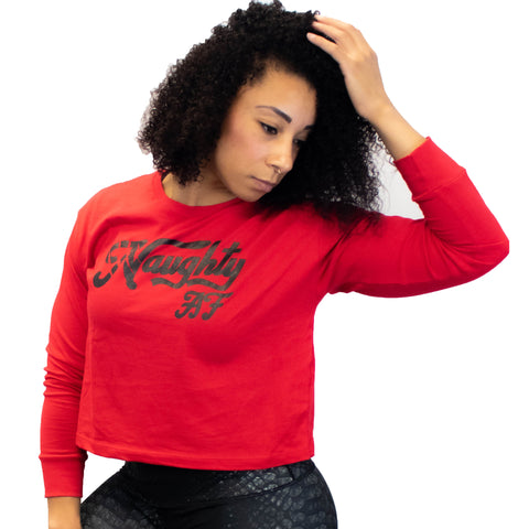 Naughty Long Sleeve Crop
