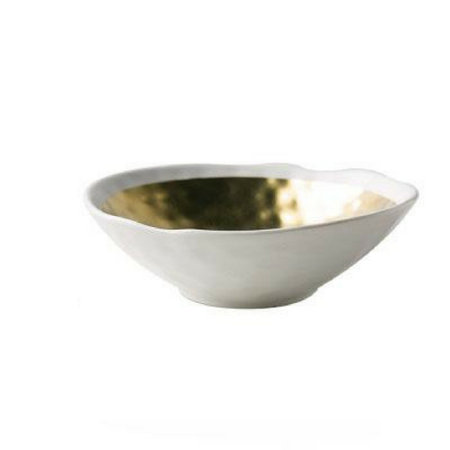 Nord Gold / Silver Ceramic Fruit Bowl