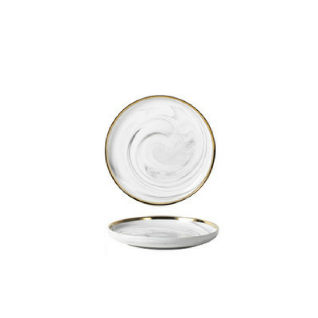 Exquisite Stroke Marble 9in plate