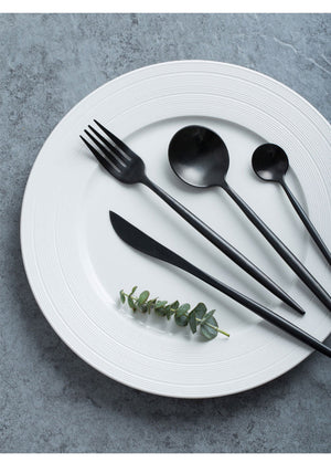 Ideayo Black Stainless Steel Flatware