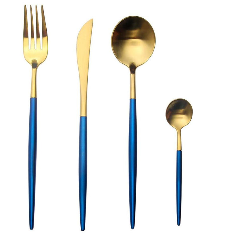 Luxury Royal Blue Flatware