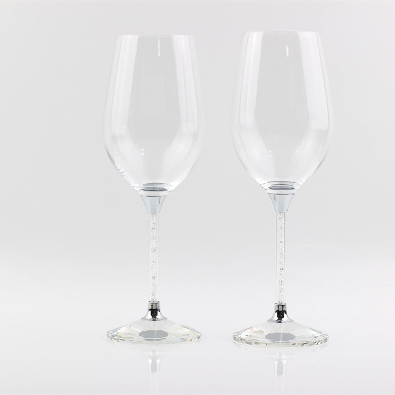 Clear Crystal Stem Wine Glass
