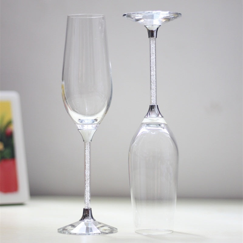 Clear Crystal  Champagne Flutes