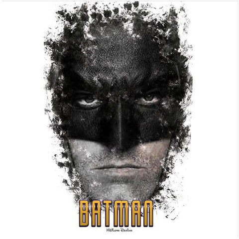 Image of Ben Affleck as Batman Ink Smudge Style Art Print